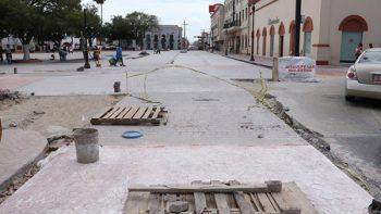 Por concluir trabajos de la calle  Sexta, Morelos y González