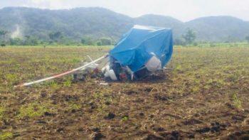Se desploma helicóptero de fumigación en comunidad de Oaxaca