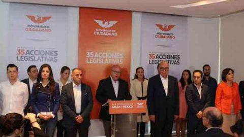 MC dará votos a AMLO en Congreso de la Unión para revertir gasolinazo