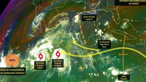 Monitorean en BCS tormentas tropicales 'Ileana' y 'John'
