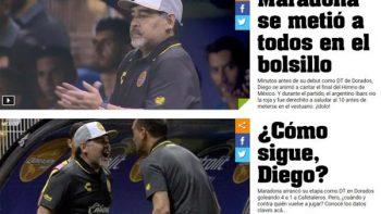 Diarios argentinos presumen el triunfo de Diego Maradona