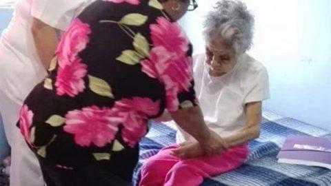 DIF de Nuevo Laredo, Tamaulipas, atiende a mujer de 124 años