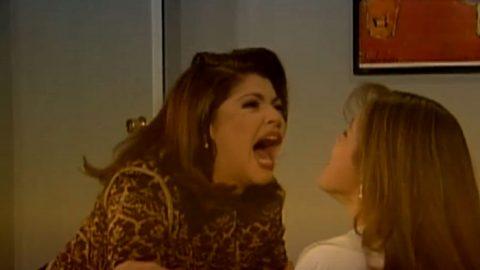 Itatí Cantoral y Yulianna Peniche recrean escena de telenovela