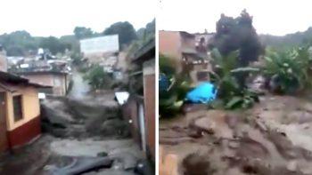 Suman ocho muertos por inundaciones en Peribán, Michoacán