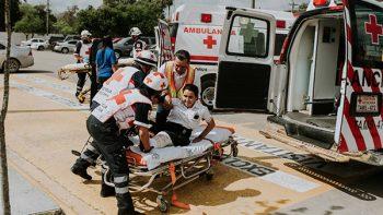 Con simulacro recuerdan el Día Nacional de Protección Civil