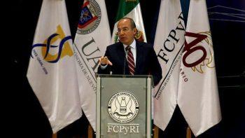 Visita Felipe Calderón Facultad de Ciencias Políticas de la UANL
