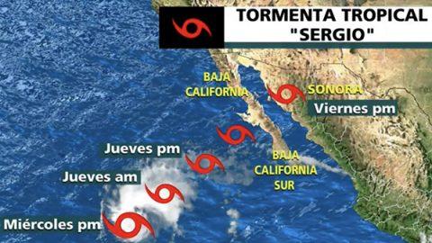 Activan Plan Marina en el noroeste del país por tormenta 'Sergio'