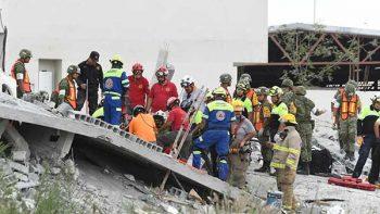 Sin localizar, un trabajador por derrumbe en Monterrey