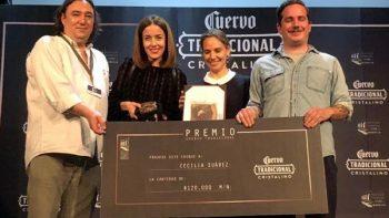 Cecilia Suárez primera mujer en recibir el Premio José Cuervo de FICM