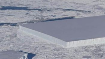 El extraño icerberg de forma rectangular descubierto por la NASA