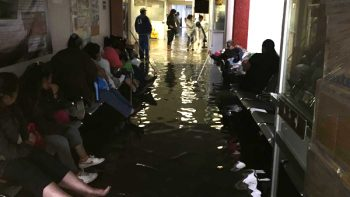Por intensas lluvias, se inunda Hospital Materno Infantil de Ticomán
