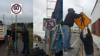 Instala Municipio señalamientos viales nuevos