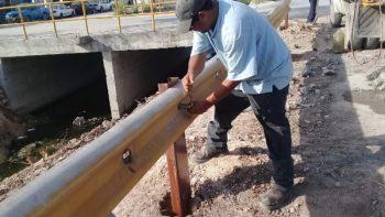 Aumenta Municipio seguridad vial con vallas de contención