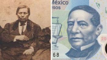 Rostro de Benito Juárez, no es como el de los billetes