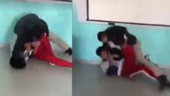Maestro golpea brutalmente a alumno en Celaya (VIDEO)