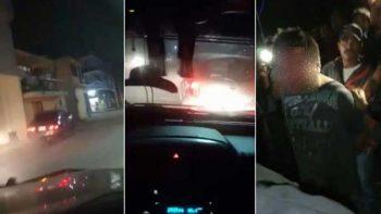 Graban persecución a conductor ebrio en Puebla