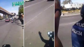Motociclistas 'zapean' a motopatrulleros (VIDEO)
