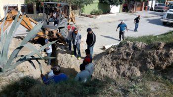 Rehabilita COMAPA caído en Santa Cecilia