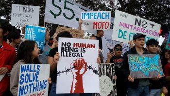 Llega Trump al Valle de Texas entre airadas protestas