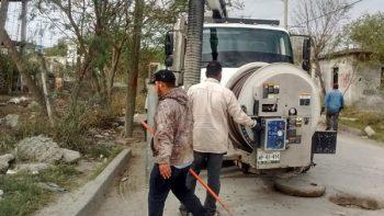 COMAPA sanea drenajes para erradicar encharcamientos