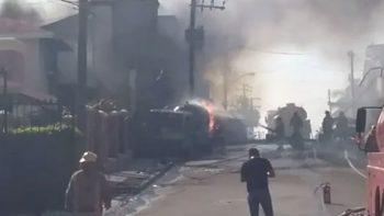 Explosión de pipa de gas deja tres lesionados en Tampico (VIDEO)