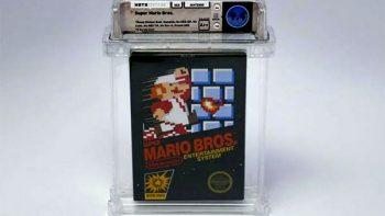 Pagan más de 100 mil dólares por juego de Mario Bros