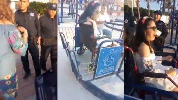 ¿Dónde está la inclusión? Policías interrumpen juego de niña con discapacidad (VIDEO)
