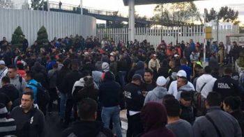 Policías federales protestan en Iztapalapa en contra de la Guardia Nacional
